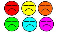 如何简画不开心表情包 然后涂上彩色