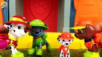 旺旺巡逻队小狗狗玩具,丛林巡逻游戏,寻找大象真好玩