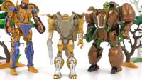 变形金刚兽型机甲款和变形警车珀利益智玩具开箱视频