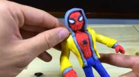 设计师装扮打造了一个蜘蛛侠,还穿着一件黄色上衣