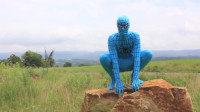 小伙被蜘蛛咬了一口,变身蓝色蜘蛛侠,不一样的视觉感觉
