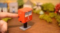 定格动画-书信的情怀 可爱的日本微型邮箱玩具模型