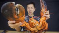 一千多一只的龙虾会有多大?里面的肉能吃到你发吐!