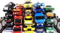 23辆大型变形金刚托宝Tobot和Helo Carbot机器人变形玩具展示