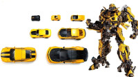 变形金刚7辆大小型号各不相同的大黄蜂机器人变形玩具