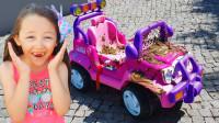 太棒了!萌宝小萝莉要怎么存够钱买车车呢?趣味玩具故事