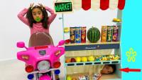 真皮!萌宝小萝莉货架上的东西都是从哪里来呢?趣味玩具故事