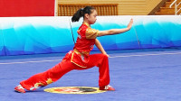 2018年全国青少年武术套路锦标赛 B组 女子长拳 001 潘玉柔(上海)第一名