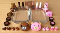 DIY手工制作自制的粘液史莱姆混合化妆品水晶泥彩泥玩具 (19)