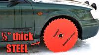 在结冰湖面测试锯片轮胎,这样的车你想开吗?一起来见识下!