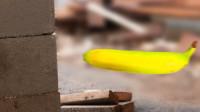 香蕉加速到482有多恐怖?看这砖头的下场就知道了,看完瑟瑟发抖!