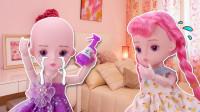 芭比用了妈妈的洗发水,结果头发掉光,变成了光头