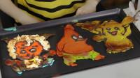 小伶玩具 三色挑战之煎饼卡通人物绘画!伶可兄弟