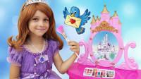越看越奇妙!萌宝小萝莉怎么变身苏菲亚公主?是小马宝莉的魔法吗?儿童亲子游戏玩具故事