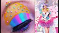 多彩眼线眼部妆容教程,时尚绚丽好吸睛!你喜欢吗?