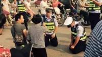 这是个什么来头?男子酒驾被查不知悔改,一个动作竟让执勤交警集体向他下跪!