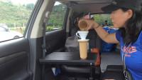 改装床车第一步,女司机给座驾安装这个装备,SUV秒变大床车!