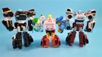 12辆变形警车珀利和韩国变形金刚Tobot托宝赛车自由组合机甲玩具