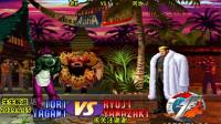 拳皇97:老KVS河池,大门最后的岚之山,也是标准结局了