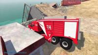 Beamng Drive车祸模拟:汽车在屋顶飞跃