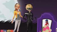 看到黑猫诺儿和寇依甜蜜的一幕,瓢虫雷迪气的要跳出来!游戏