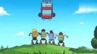搞笑吃鸡动画:霸哥胆大包天巧用跳跳鞋!劫持空中巴士还围殴达达!