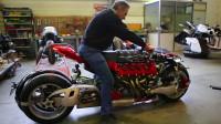 艺术家造飞行摩托被冷落,打造4轮陆地摩托,这车一般人真骑不了