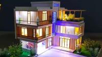 漂亮的迷你楼房模型,看看手工达人是如何制作的,很有创意!