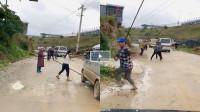 数十名村名野外拦车要钱,车主顿时就怒了直接踩下油门!3秒后的画面大快人心!