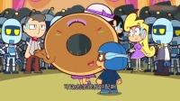 大大怪说甜甜圈中奖了,让粗心超人把奖品拿给甜甜圈!