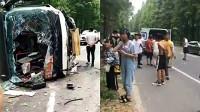 安徽蚌埠一辆满载中考考生客车与轿车相撞 车上30名学生受伤