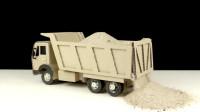 纸板卡车玩具:教你如何制作遥控卡车?还能自卸运输沙子