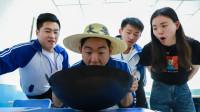 学生考试,老师要求吃火鸡面,吃的越多成绩越高