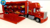 小汽车拆盒,大箱车转满多种款式小汽车玩具,儿童玩具亲子互动