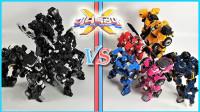 迷你特工队X限量黑版和原始色彩版机器人机甲变形玩具