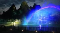 实拍阳朔兴坪三千漓大型山水实景演出,山水相间的美丽话剧让人印象深刻