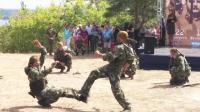 战斗民族俄特种部队士兵军事格斗表演,展现硬汉本色
