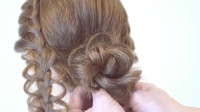 编发教学,你也来学学编这款好看的辫子盘发发型吧