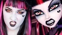 当美女化妆打扮成怪高娃娃吸血鬼,你觉得她成功了吗?