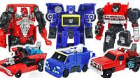 变形金刚大黄蜂电影款铁皮VS声波和粉碎机器人变形玩具开箱