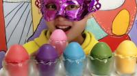"""妹子吃""""创意鸡蛋巧克力"""",多色多味,圆溜溜的香甜丝滑超赞"""