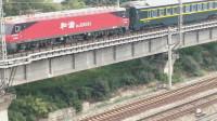 南宁铁路局的王牌车京局京段HXD3D!Z6次列车由南宁开往北京西