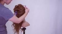 教你编一款满天星玫瑰花公主头发型的满天星玫瑰花公主头发型