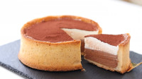 巧克力+马斯卡彭慕斯奶酪慕斯挞 双层厚重的口感,甜腻下午茶