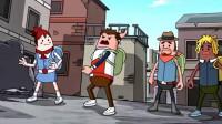 搞笑吃鸡动画:传奇雷神惊现香肠岛,好面子的瓦特致敬雷神惨遭灭队