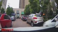 两边都是停车,考验我技术的时候到了,记录仪拍下这一幕