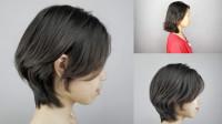 发型师利用简单的二分区技术为妹纸剪短发,美女转眼就变优雅大气