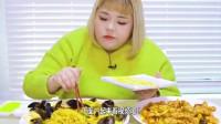 韩国大胃王妹子又开始吃面了,这么胖还在吃