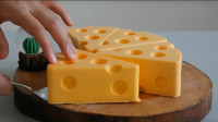 """真实还原""""猫和老鼠""""奶酪,制作过程简单,学学给孩子做一个"""