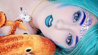 国外女子美妆秀:化妆打扮成的美人鱼你觉得漂亮吗?